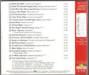 Christmas with Lanza CD back